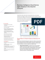 Oracle Business Intelligence Cloud Service DataSheet