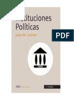 Josep Colomer - Instituciones Politicas