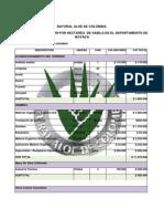 Costos Produccion Aloe Vera