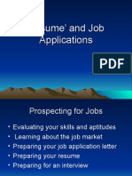 Resumes and Job Applications