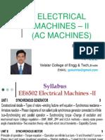 Electrical Machines 2 AC Machines