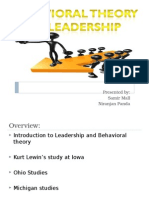Behavioral Theory of Leadership Rno 78 & 53.ppt