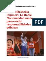 Keiko Fujimori y Su Nacionalidad Japonesa
