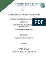 Informe Academico Snna - Canaop 2014