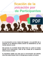 Clasificación de La Comunicación Por Número de Participantes