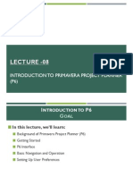 Introduction to Primavera Project Planner P6 v6