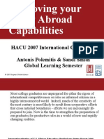 Institutional Readiness for Study Abroad