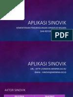 Pengembangan Aplikasi Sinovik 2014-2015