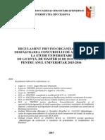 Regulament Organiz Desfas Concurs Admitere 2015