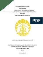 Pra Proposal Tesis Stratejik Manajemen