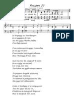 Le Seigneur Est Mon Berger Psaume 22