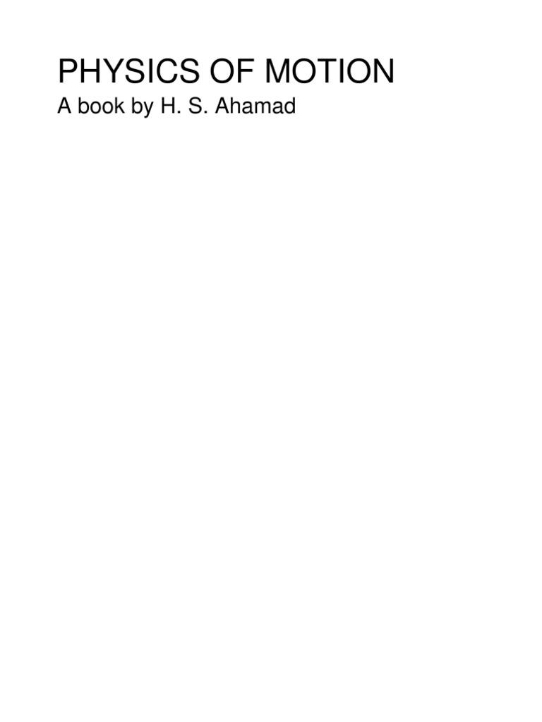 Physics of Motion-hsa | Acceleration | Physics & Mathematics