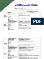 Planificare - evaluare finala