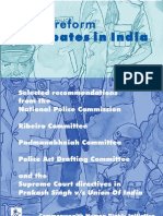 police reform debates in india
