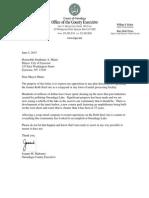 Mahoney letter to Miner