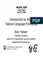 Introduction to Arabic NLP