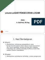 A.dasar-dasar Pengecoran Logam