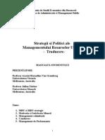 Traducere Strategii Si Politici Ale Managementului Resurselor Umane
