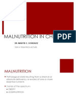 Malnutrition in Children for Pdr III - Pedia