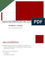Malnutrition in Children for Pdr III - Pedia