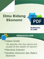ilmu bidang ekonomi