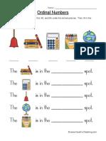 Ordinal Numbers Worksheet 1