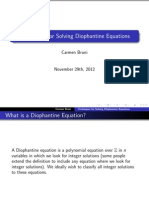 Techniques of Diophantine Equations