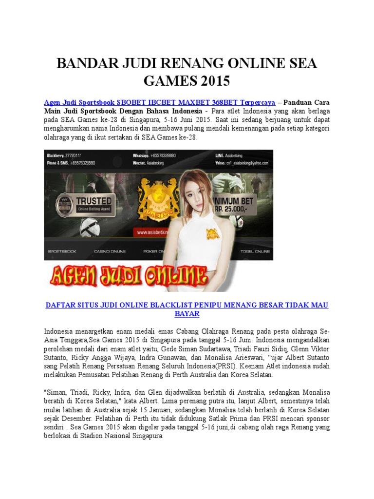 Bandar Judi Renang Online Sea Games 2015