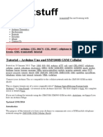Tutorial - Arduino Uno and SM5100B GSM Cellular