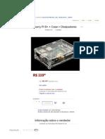 Raspberry Pi B+ + Case + Dissipadores - R$ 229,00 no MercadoLivre