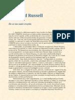 Bertrand Russell - De Ce Nu Am Devenit Crestin