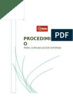 Procedimiento Para Comunicación Interna