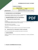 Determinación de Causas y Acciones ISO9001 (Ac-11)