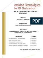 Transacciones en las que se aplica el interes compuesto en El Salvador