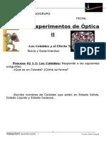 Ficha de Experimentos de Optica II