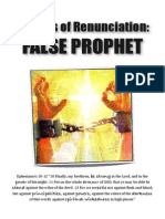 Prayers of Renunciation FALSE PROPHET