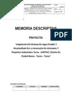 Memoria Descriptiva Aapitac