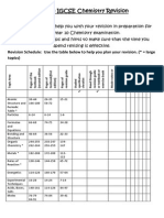 Year 10 Chemistry Revision Schedule Booklet