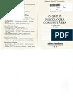 O Que é Psicologia Comunitária - Vasconcelos