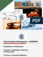 aula 1 Legislação e normas profissionais