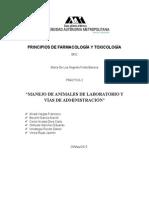 MANEJO DE ANIMALES DE LABORATORIO Y VÍAS DE ADMINISTRACIÓN