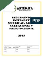 Reglamento Interno de Seguridad y Saluden El Trabajo de ARTEMISA SAC.
