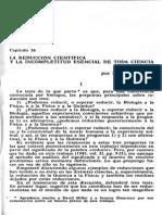 Popper - La Reducción Científica y La Incompletitud Esencial de Toda Ciencia