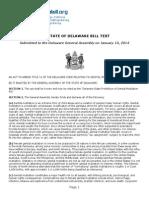 Delaware MGM Bill (2014)
