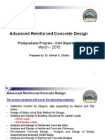M.sc. Program Advanced Reinforced Concrete Design (Course Book)