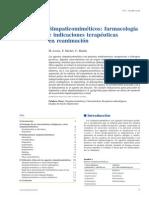 Simpaticomiméticos Farmacología e Indicaciones Terapéuticas en Reanimación