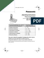 Panasonic Kxtg7150ex Kxtg7170ex