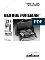 George Foreman Grill Model Number GR14BWC
