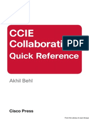 CCIE COLLABORATION QUICK REFERENCE cisco press pdf   Ip Address