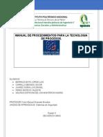 3.1 Manual de Procedimiento Para La Tecnologia Del Proceso